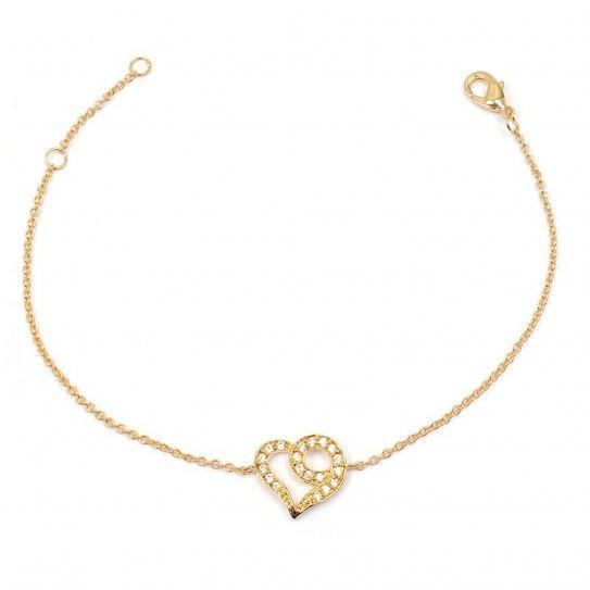 Bracelet plaqué or cœur