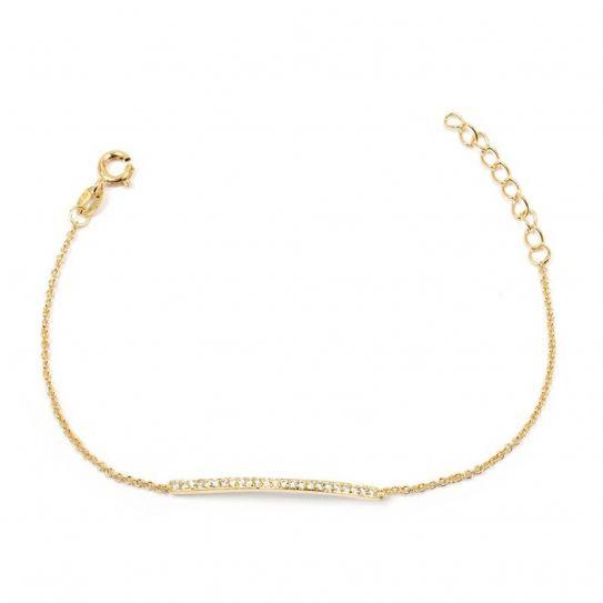 Bracelet plaqué or barrette