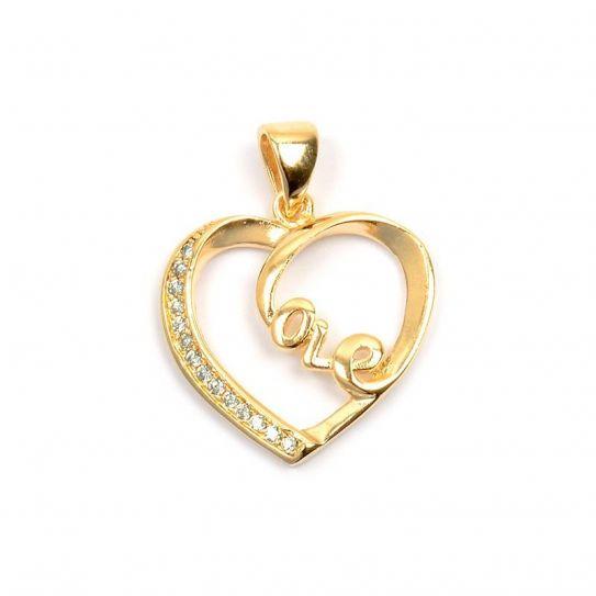 Pendentif plaqué or cœur