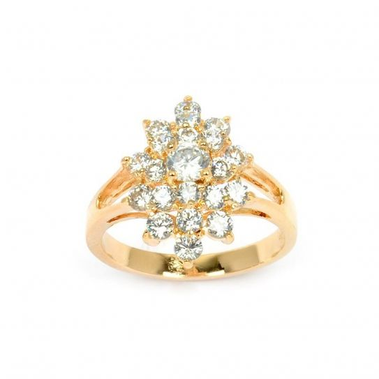 Bague marquise plaqué or