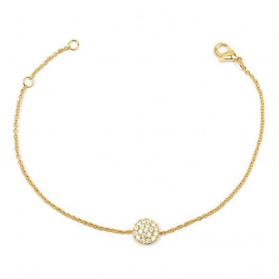 Bracelet plaqué or pavé