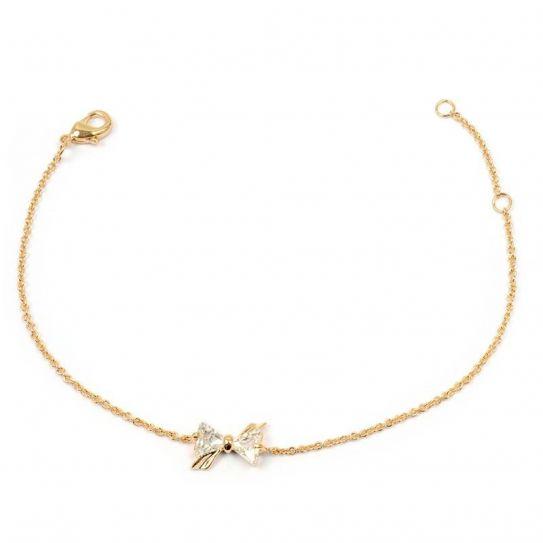 Bracelet plaqué or nœud