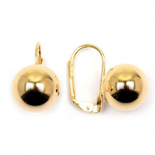 Boucle d'oreille plaqué or boule